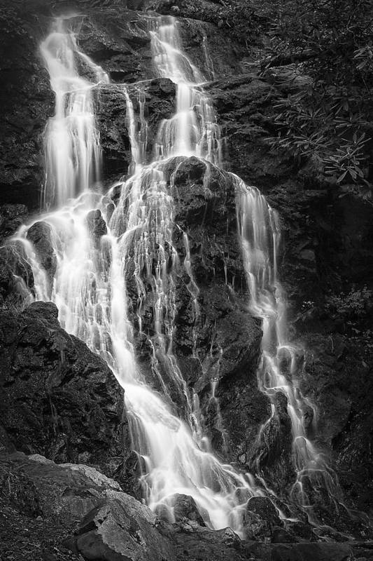Vertical Print featuring the photograph Smokey Waterfall by Jon Glaser