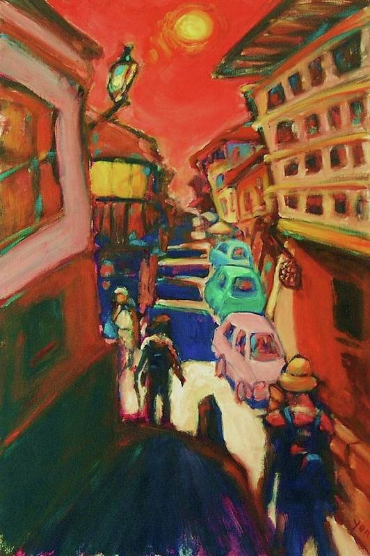 Camino De Santiago Art Print featuring the painting Solitaire by Yen