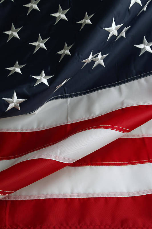 Flag Art Print featuring the photograph Stars And Stripes by Les Cunliffe