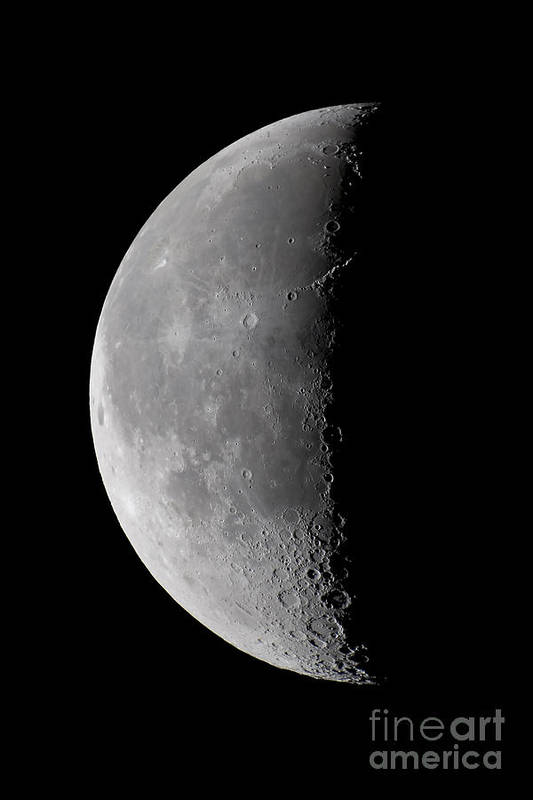 Moon Art Print featuring the photograph 23 Day Old Waning Moon by Alan Dyer
