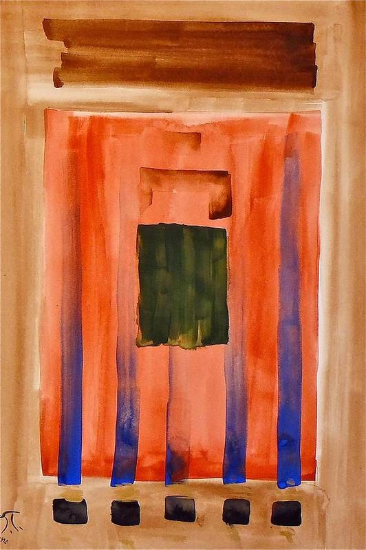 Modern Art Art Print featuring the painting Untitled by Troy Thomas