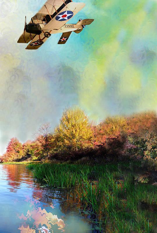 Photo Art Print featuring the painting Biplane Series by Sid Katragadda