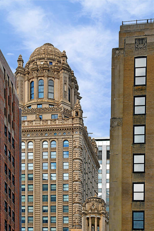 Jewelers Art Print featuring the photograph 35 East Wacker - Jewelers' Building Chicago by Christine Till