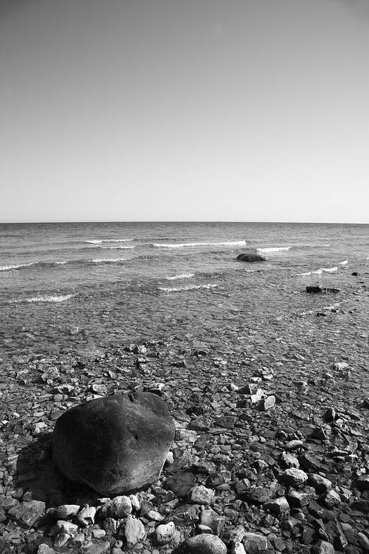 Aamerica Art Print featuring the photograph Lake Huron by Frank Romeo