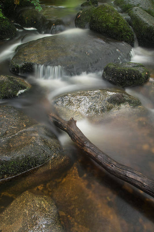 Landscape Art Print featuring the photograph Landscape Of Becky Falls Waterfall In Dartmoor National Park Eng by Matthew Gibson