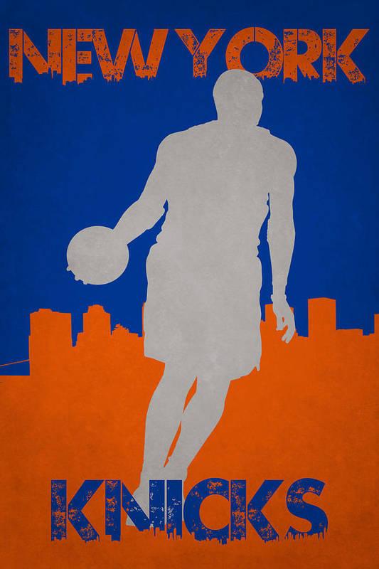 Knicks Art Print featuring the photograph New York Knicks by Joe Hamilton