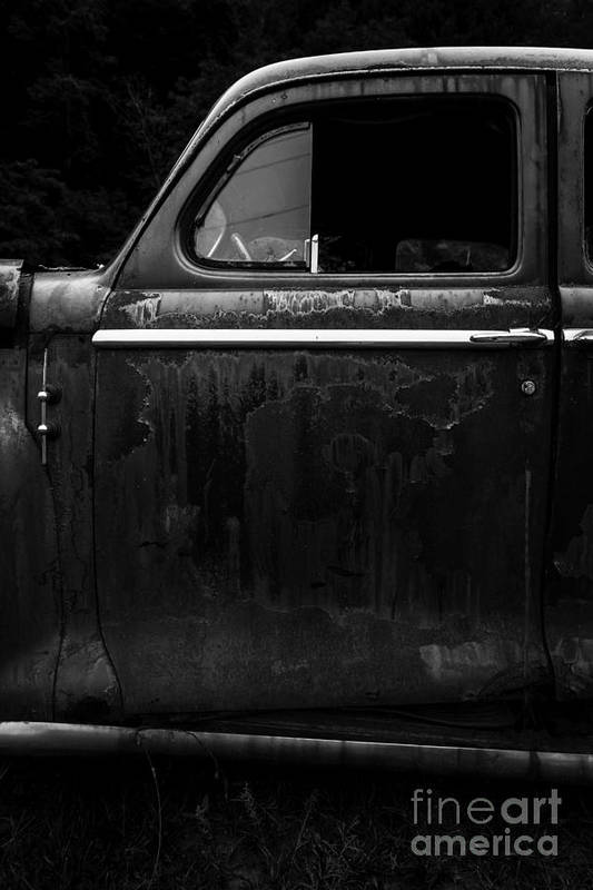 Abandoned Art Print featuring the photograph Old Junker Car by Edward Fielding
