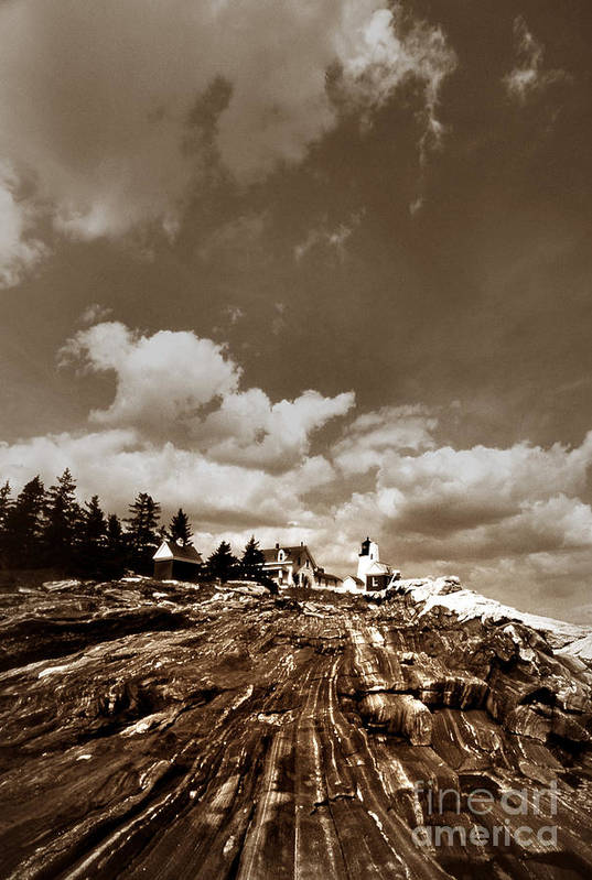 Maritime Art Print featuring the photograph Pemaquid Point Lighthouse by Skip Willits