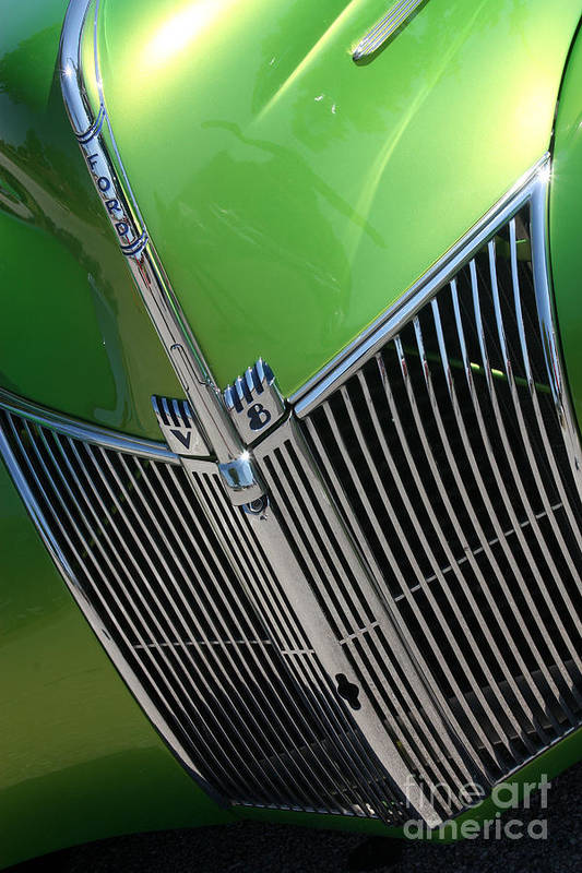 1940 Art Print featuring the photograph 40 Ford - Grill Detail-8633 by Gary Gingrich Galleries
