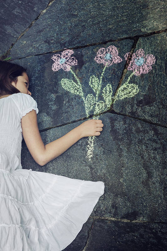 Girl Art Print featuring the photograph Flowers by Joana Kruse
