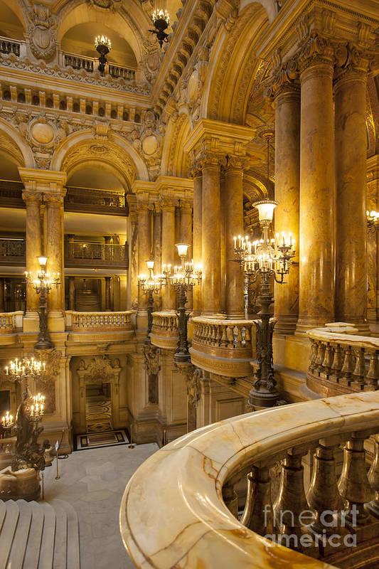 Architectural Art Print featuring the photograph Palais Garnier Interior by Brian Jannsen