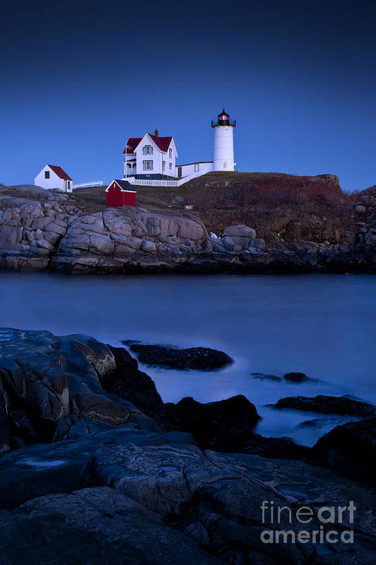 Nubble Art Print featuring the photograph Nubble Lighthouse by Brian Jannsen
