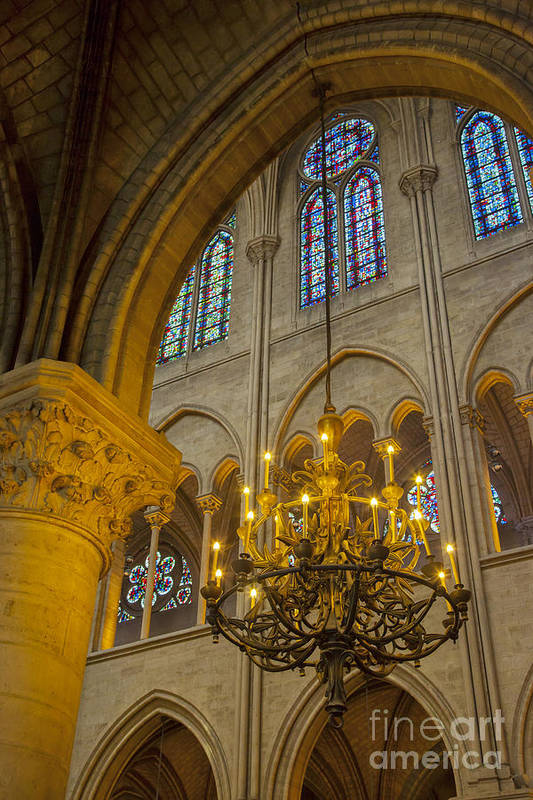 Arch Print featuring the photograph Cathedral Notre Dame by Brian Jannsen