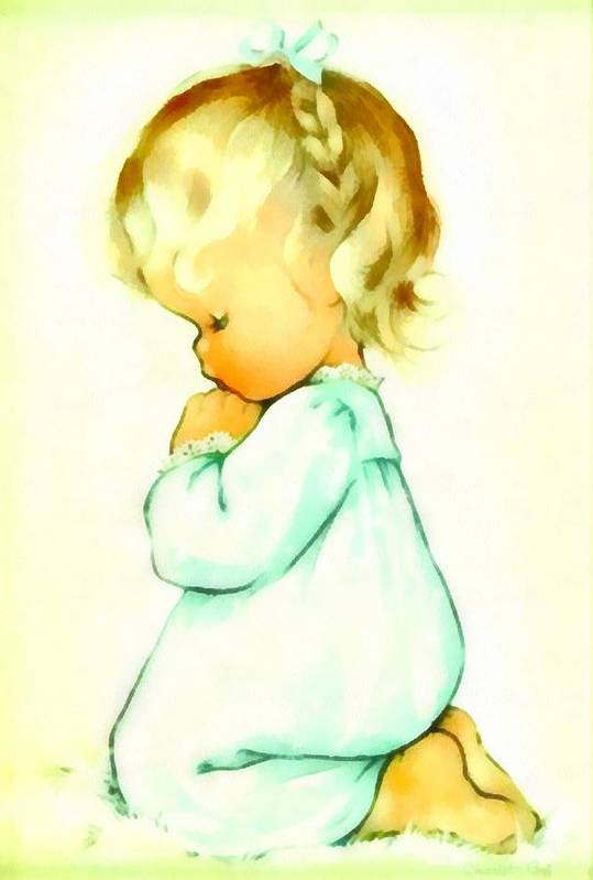 Charlotte Byj Art Print featuring the digital art A Childs Prayer by Charlotte Byj