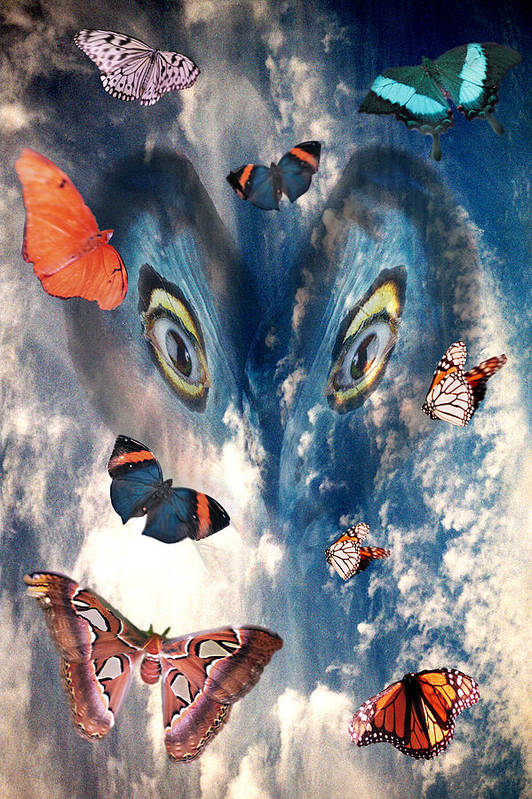 Air Art Print featuring the digital art Air by Lisa Yount