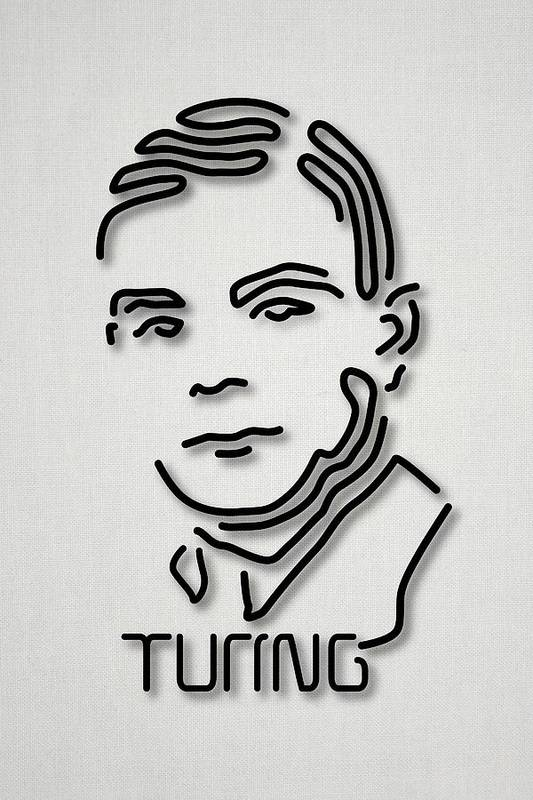 1900s Art Print featuring the photograph Alan Turing by Ramon Andrade 3dciencia