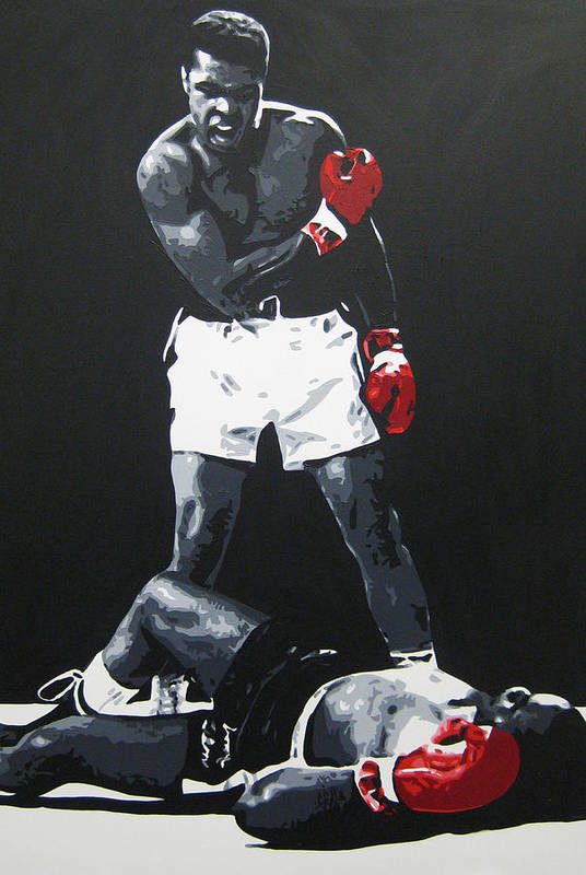 Muhammad Ali Art Print featuring the painting Ali 2 by Geo Thomson