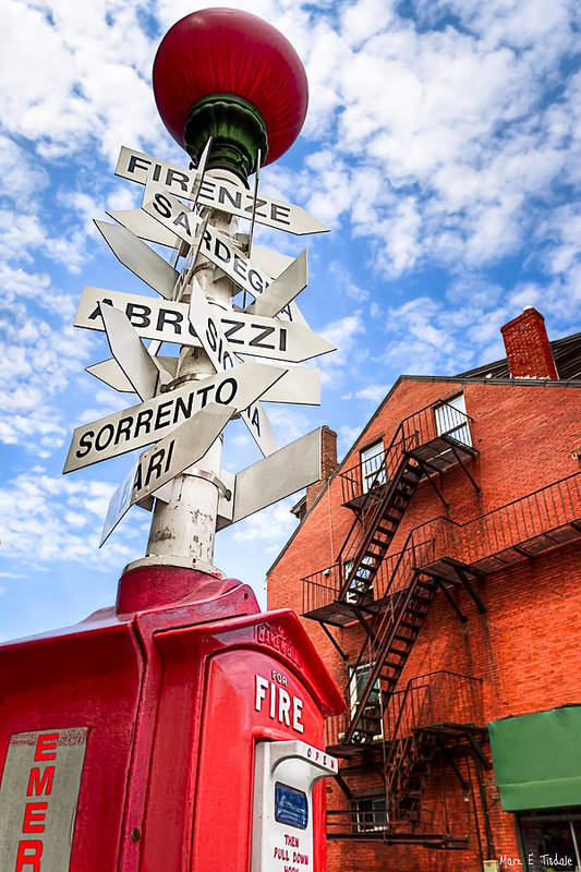 Boston Print featuring the photograph All Signs Point To Little Italy - Boston by Mark E Tisdale