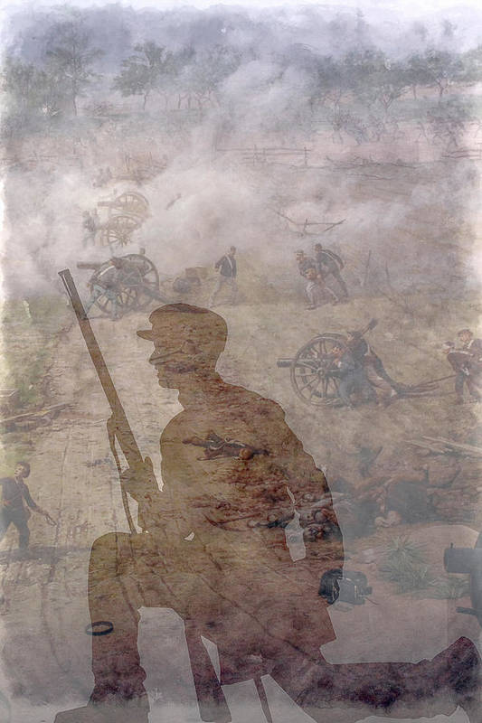 Pickett's Charge Art Print featuring the digital art An Afternoon In Gettysburg July 1863 by Randy Steele