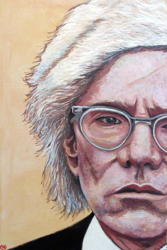 Andy Warhol Art Print featuring the painting Andy Warhol by Tom Roderick