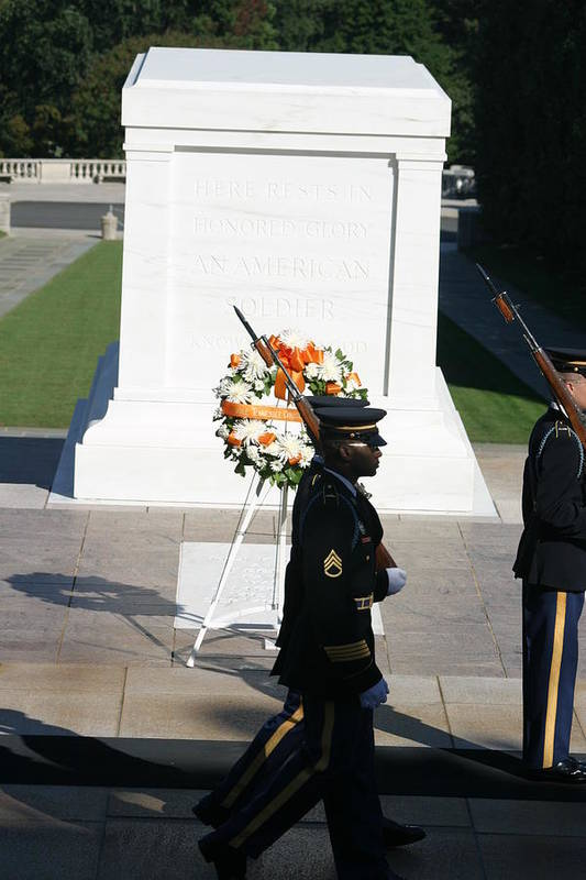 Arlington Art Print featuring the photograph Arlington National Cemetery - Tomb Of The Unknown Soldier - 121213 by DC Photographer