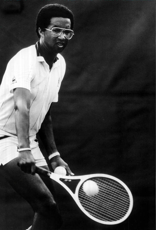 Retro Images Archive Art Print featuring the photograph Arthur Ashe Playing Tennis by Retro Images Archive