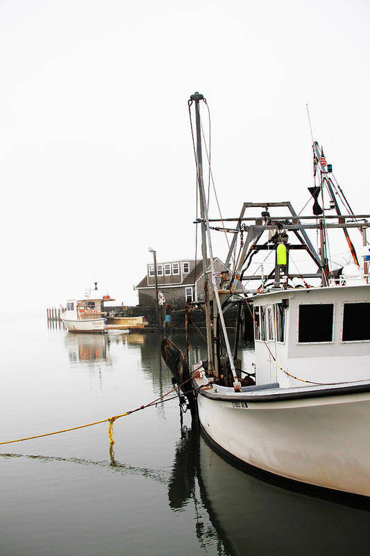 Boats Art Print featuring the photograph At Dock by Karol Livote