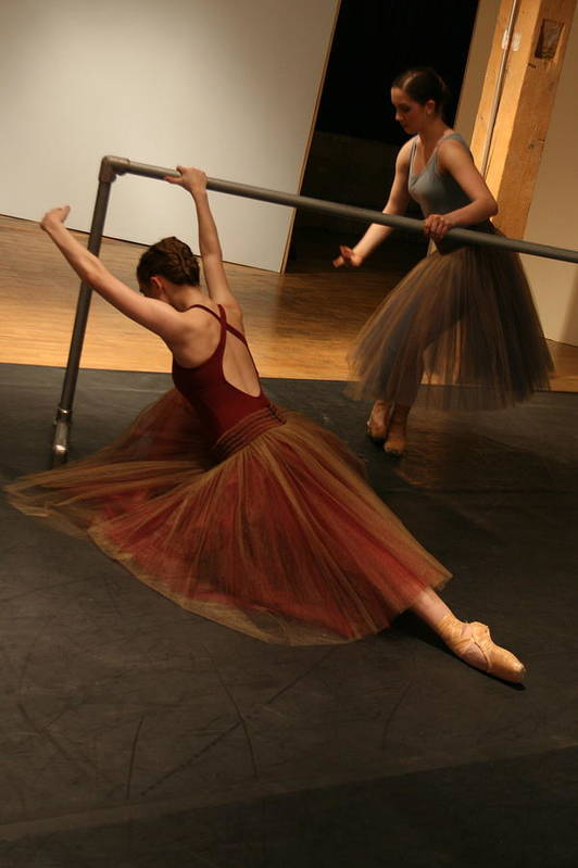 Ballet Art Print featuring the photograph At The Barre by Kate Purdy