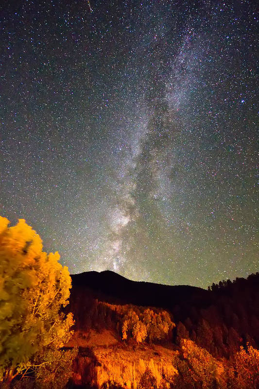 Milkyway Art Print featuring the photograph Autumn Milky Way Night Sky by James BO Insogna