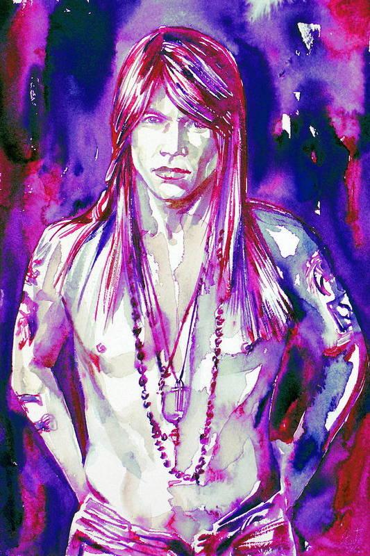 Axl Art Print featuring the painting Axl Rose Portrait.3 by Fabrizio Cassetta
