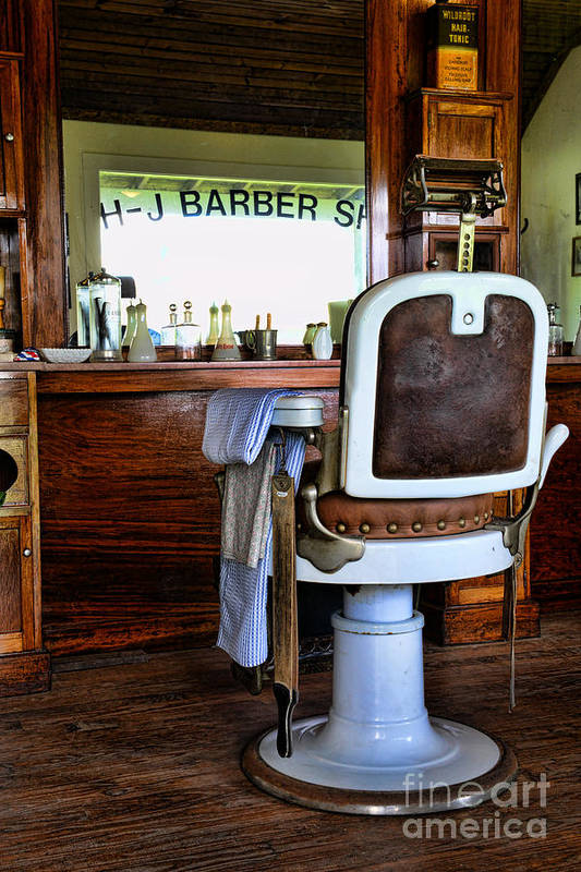 Barber - The Barber's Chair Art Print featuring the photograph Barber - The Barber Shop by Paul Ward
