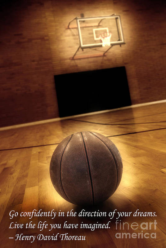 In Art Print featuring the photograph Basketball And Success by Lane Erickson