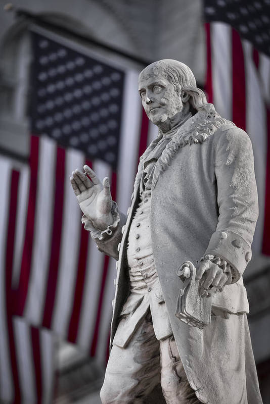 America Art Print featuring the photograph Benjamin Franklin by Eduard Moldoveanu