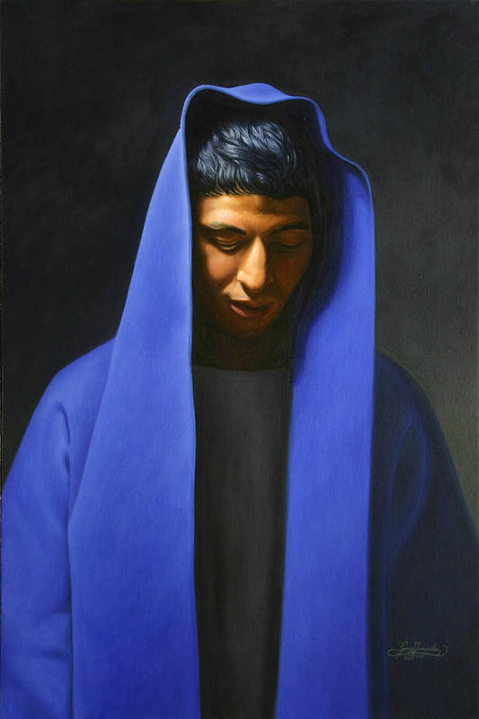 Blue Art Print featuring the painting Blue by Gary Hernandez