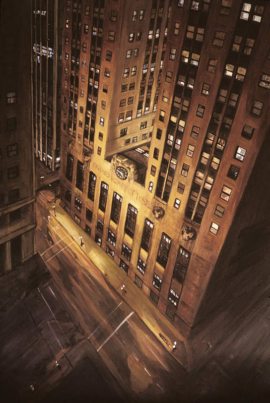 Chicago Art Print featuring the painting Board Of Trade by Christopher Buoscio