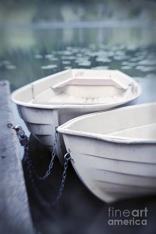 Boat Print featuring the photograph Boats by Priska Wettstein