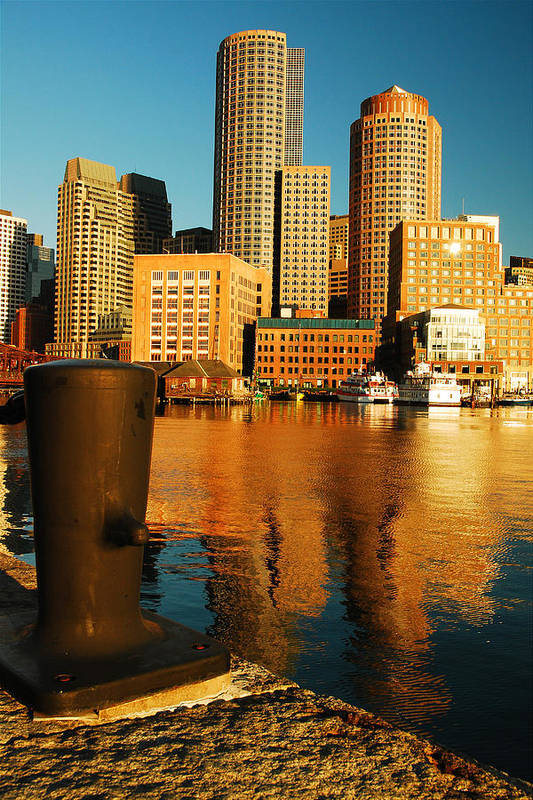 Boston Art Print featuring the photograph Boston Harbor by James Kirkikis