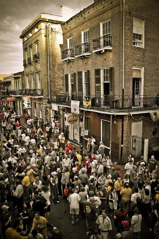 New Orleans Art Print featuring the photograph Bourbon Street Party by Ray Devlin