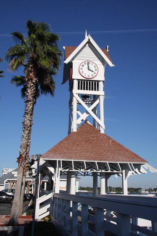 Pier Art Print featuring the photograph Bridge Street Pier And Clocktower by Christiane Schulze Art And Photography