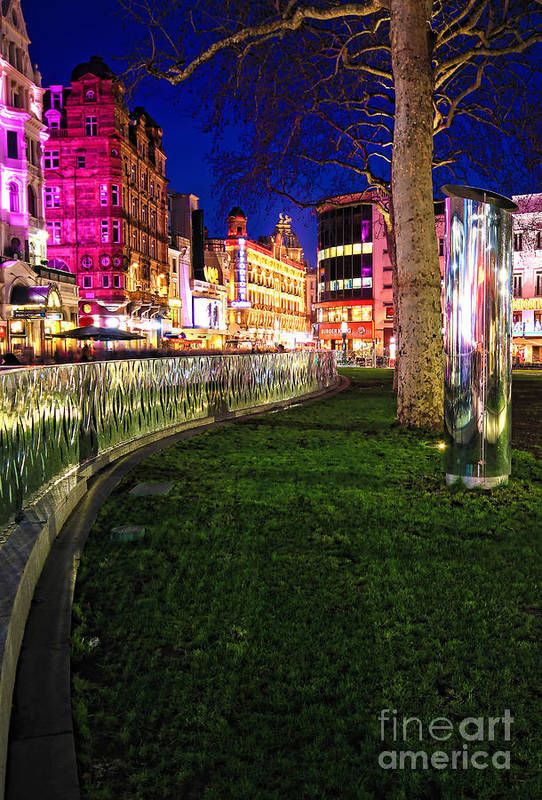 London At Night Art Print featuring the photograph Bright Lights Of London by Jasna Buncic