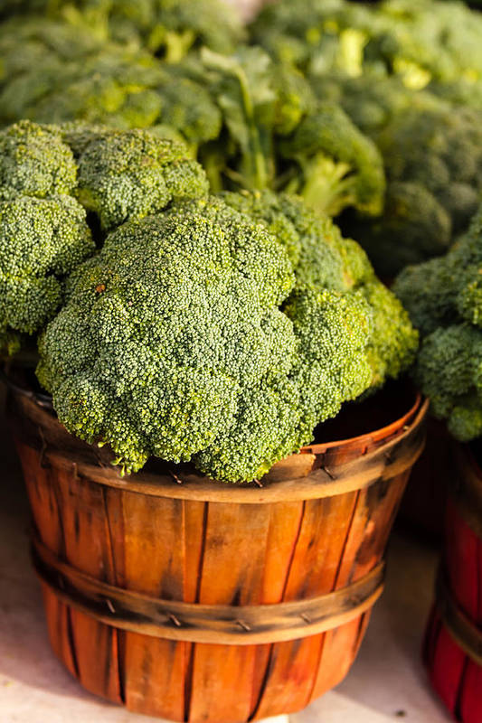 Agriculture Art Print featuring the photograph Broccoli In Baskets by Teri Virbickis