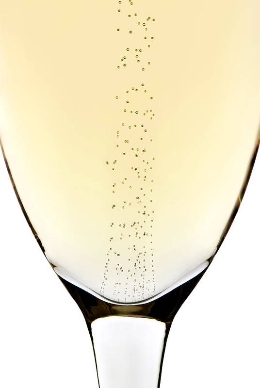 Detail Art Print featuring the photograph Bubbles In Champagne by Johan Swanepoel