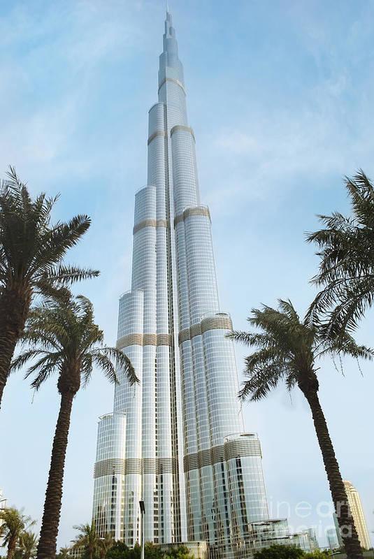Burj Art Print featuring the pyrography Burj Khalifa by Jelena Jovanovic