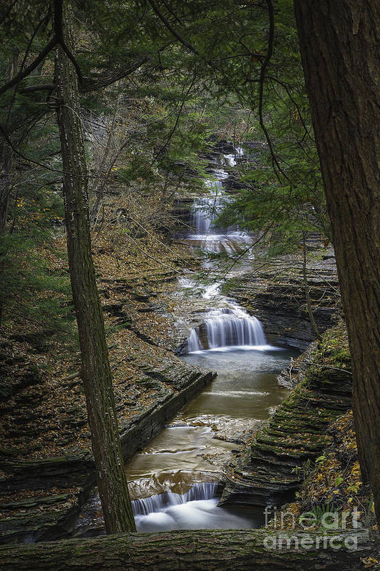 Michele Print featuring the photograph Buttermilk Falls In Autumn IIi by Michele Steffey