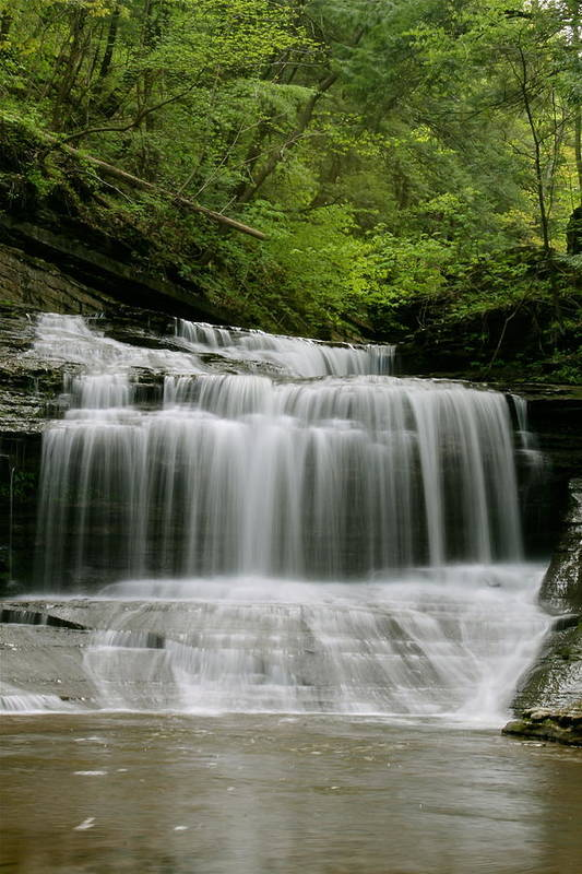 Buttermilk Falls Art Print featuring the photograph Buttermilk Falls by Judd Connor