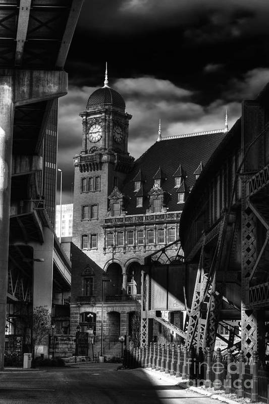 Main Street Station Art Print featuring the photograph By The Station by Tim Wilson