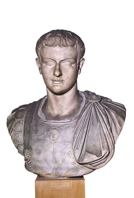 Vertical Art Print featuring the photograph Caligula, Gaius Caesar Germanicus by Everett