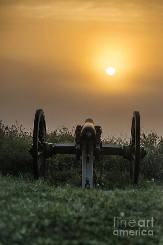 Adams County Art Print featuring the photograph Cannon On Cemetery Hill Gettysburg by John Greim