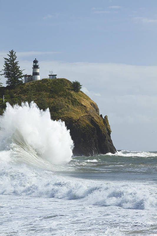 Sea Art Print featuring the photograph Cape Disappointment 3 A by John Brueske