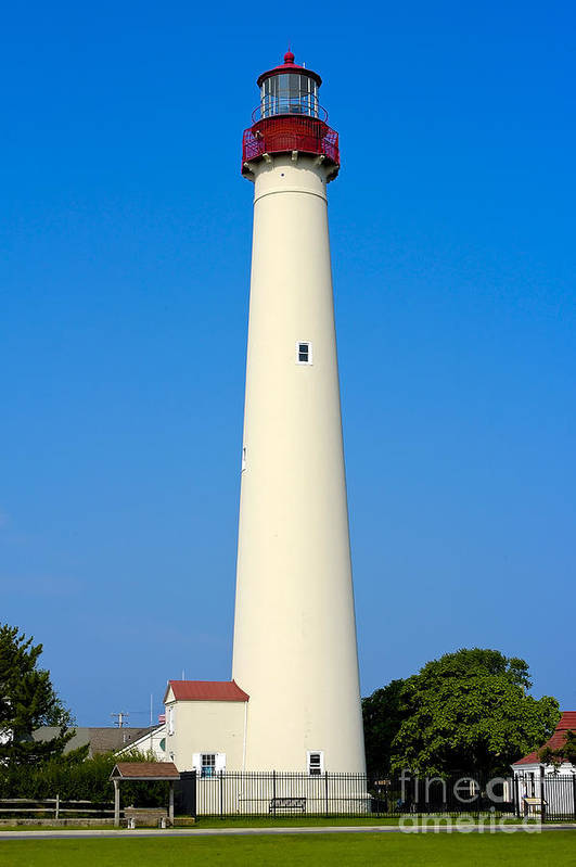 Lighthouses Art Print featuring the photograph Cape May Lighthouse by Anthony Sacco